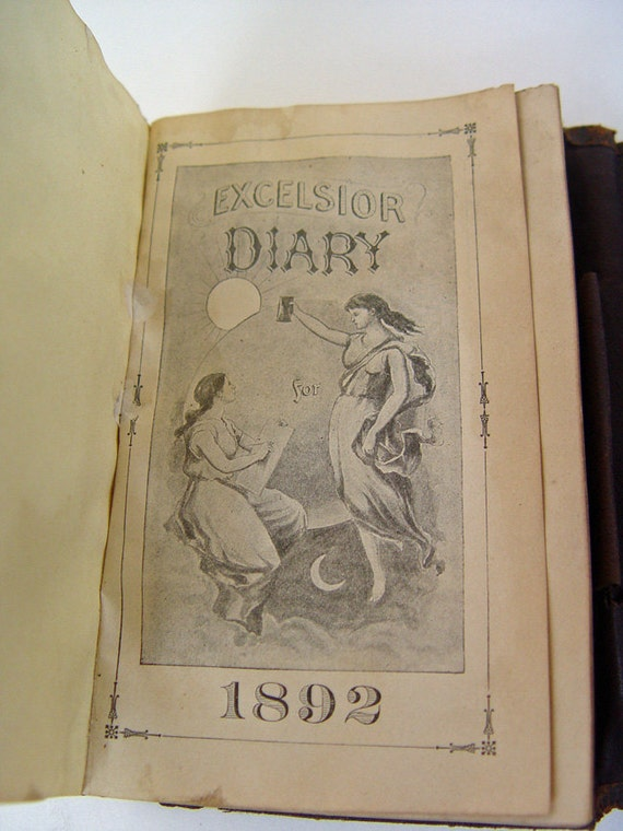 1892 Excelsior Diary Leather Cover