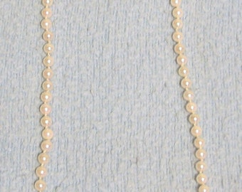 J002      20 inch 6mm Cultured PEARL necklace