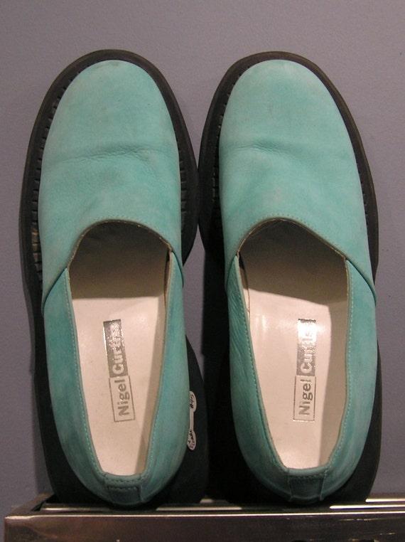 SALE Fabulous, Rare Nigel Curtiss (ex Comme des Garcons) Blue Suede Shoes