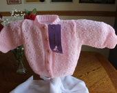 Georgous Soft Pink Baby Cardigan          3 to 6 mths