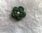 """Green Forest Flower 2"""" Hijab/Corsage Pin"""