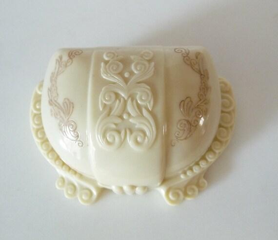 Vintage Art Deco Ring Box Celluloid Plastic