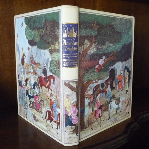 Vintage Book The Arabian Nights Illustrated Junior Library Edition 1946 Illustrations by Earle Goodenow