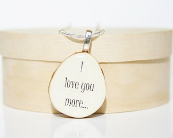 Love Pendant necklace personalized jewelry mom gift circle pendant eco friendly
