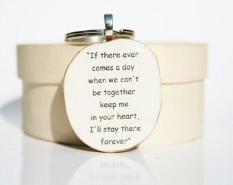 Inspirational Keychain. boyfriend gift Going Away Gift. Winnie The Pooh Keychain. Quote Keychain. Wood keychain. Graduation Gift