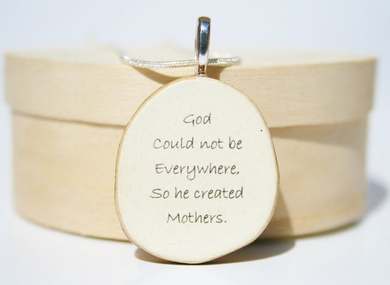 Mother necklace , mom jewelry , mom necklace , wood jewelry , eco friendly jewelry ,gift for mom