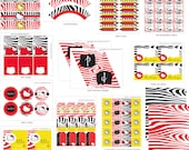 HELLO KITTY ZEBRA Party - Girls party - Customized printable Package.