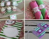 MOTHER'S DAY Printables Package - Mother's Day Party Printables - Mother's Day Card - Pink and Green Printable Package