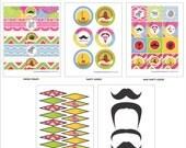 CINCO de MAYO - FIESTA - Printables Package - Mexican Fiesta Party Printables - Cinco de Mayo Invitation