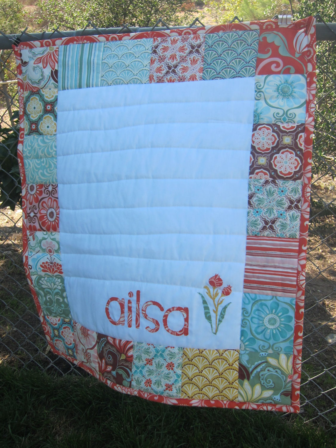 Custom Baby Quilt Personalized With Baby S Name By Dniledesign