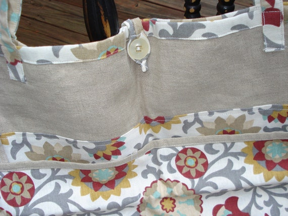 Tan, Grey and Auburn Tote for Mom