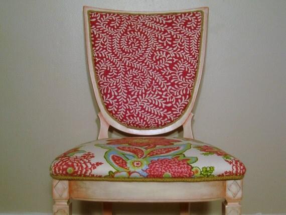 Flirtaciously Shabby Pink Vintage Chair