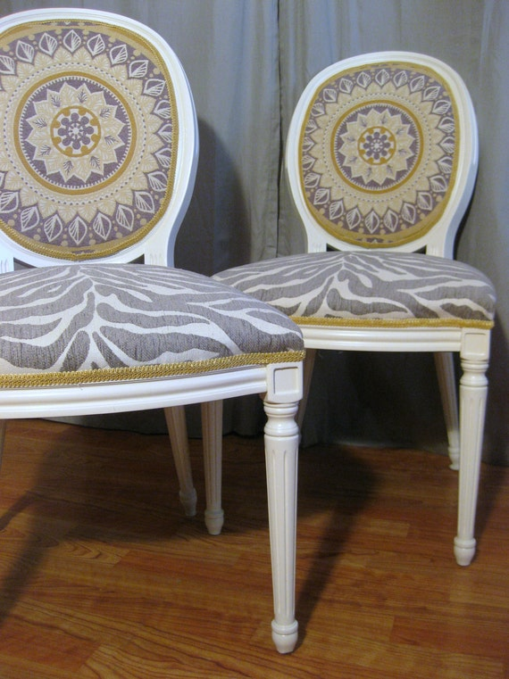 Classy Chic Round Back French Bergere Chairs ON HOLD for Kate