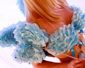 Blue Sequin Flower Petal Fairy Angel Lingerie Costume Wings 5 Piece Set - Victorias Secret Fashion Show