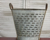 Vintage Olive Picking Bucket