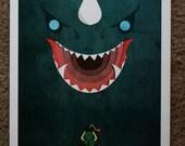 Dodongo Zelda Original 11x17 Digital Art Print