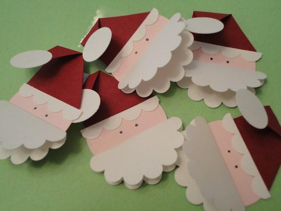 SALE - Christmas Gift Tags - Santa (set of 5)