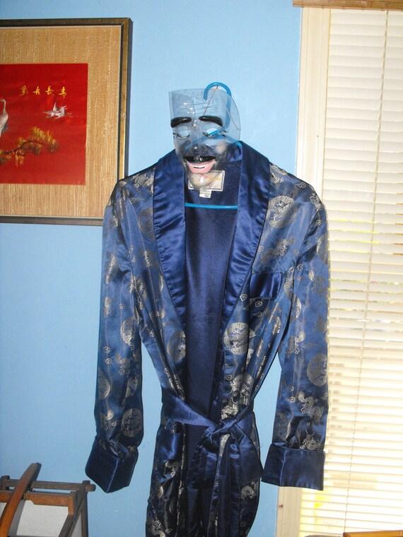 50s style silk Smoking Jacket