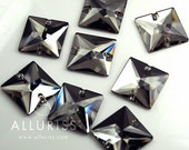 8pcs Black Diamond, 22mm Square, Sew On Crystal  flatback