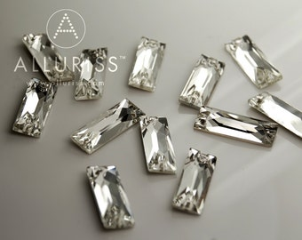 RESERVED FOR CANDY - 12pcs, Clear Crystal Rectangle, Baguette, Large, 9mm x 25.5mm, Sew on crystal stone  flatback