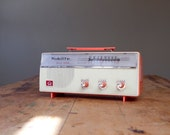 Vintage Bright Coral Radio by Nobility Solid State AM FM in Mint Condition