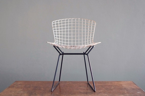 Bertoia Side Chair Raw Modern Authentic Weathered Piece