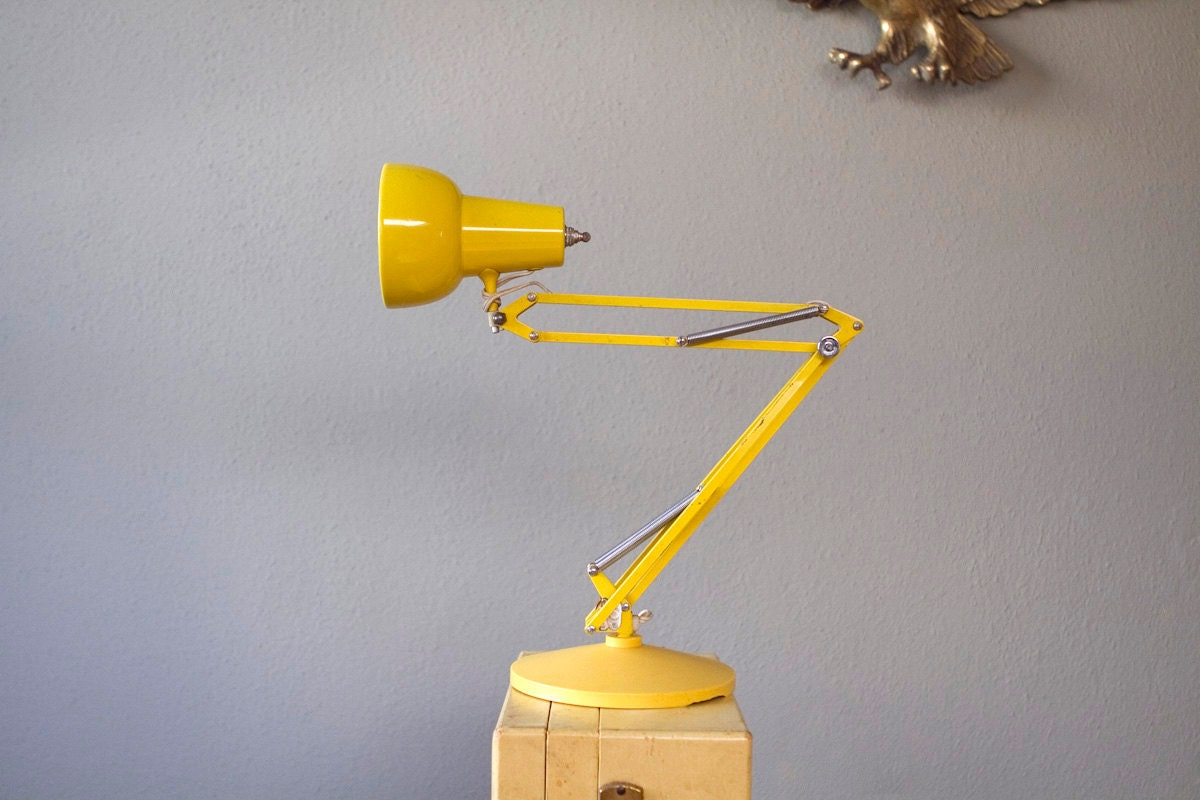 Yellow Architect S Lamp Adjustable Table Top Task Light