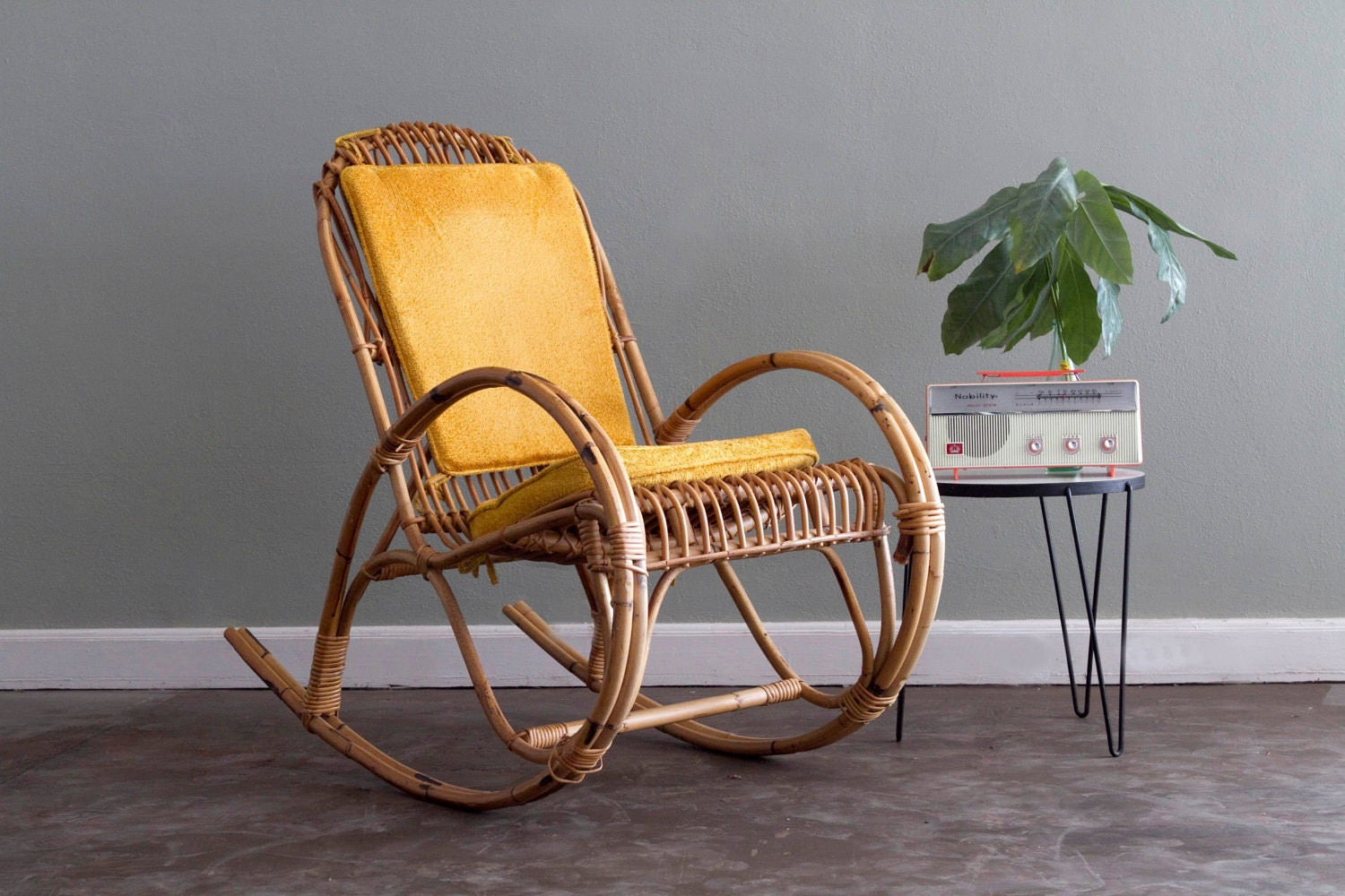 Sale Franco Albini Rocking Chair By Castandcrew On Etsy