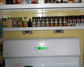 Spice rack - Picture Rail - made to order unfinished sanded ready to finish or painted white
