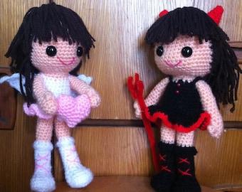 Aigurumi crochet pattern - Devil and Angel PDF pattern