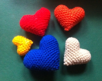 Sweet colorful Hearts - 3 different sizes - crochet pattern / PDF pattern Instant Download