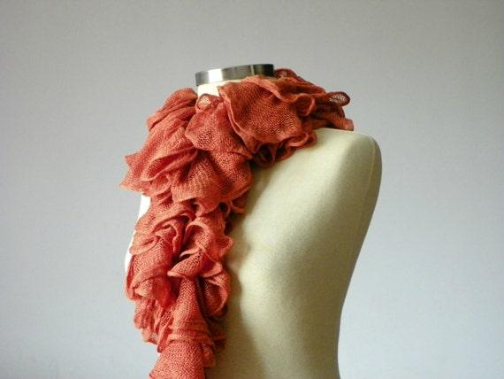 Knitting cotton soft scarf - handmade neckwarmer autumn women accessories, fall fashion