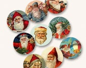1in VINTAGE VICTORIAN SANTA circles rounds for stickers badges buttons card-making MagentaBelle instant download 67