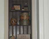 Handcrafted Primitive wall shelf