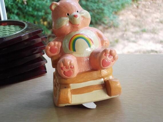 "Care Bear Rocking Chair Music Box.  ""Cheery"" 1983."