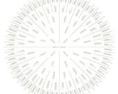 Family Tree - CUSTOM LISTING - Digital 7 Generation Sunburst Design - print-ready file