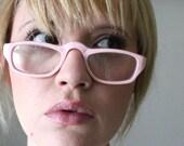 Vintage 50's Bubblegum Pink Cat Eye Reading Eyeglasses Readers