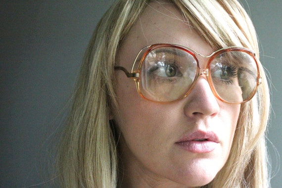 Vintage Oversized Tura Sunset Drop Arm Eyeglasses Frames