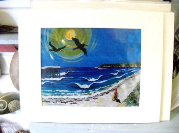 Caribbean Surf aRT- pUERTO rIOC surf print-beac print- tropical art print