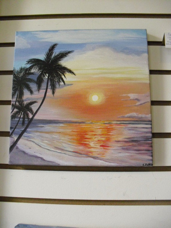 Items similar to original painting on canvas tropical for Puerto rico home decorations