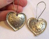 Vintage early 90's Silver Heart Earrings
