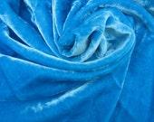 Blue Velvet Fabric India