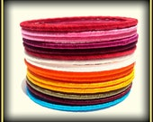 16 Multicolored Silk Thread Wrap Bracelet Bangle India- Bright Colors Perfect For Summer, Spring