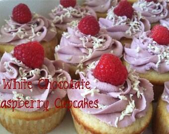 White Chocolate Raspberry Cupcakes-Made to Order
