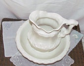 Lovely detail cream  Wash bowl and pitcher