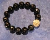 Dazzling Crystal Pave & Onyx Bracelet