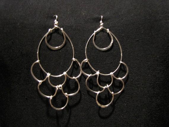 Large Chandelier Earrings  Sterling SIlver