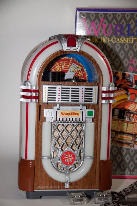 coin operated wurlitzer micro cassette jukebox in original box. Black Bedroom Furniture Sets. Home Design Ideas