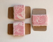 spring pink pastel vintage fabric ribbon easter babyshower bridal shower mother's day decor supply - set of 3