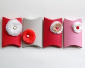 poppy giftcard holder, favor- set of 4